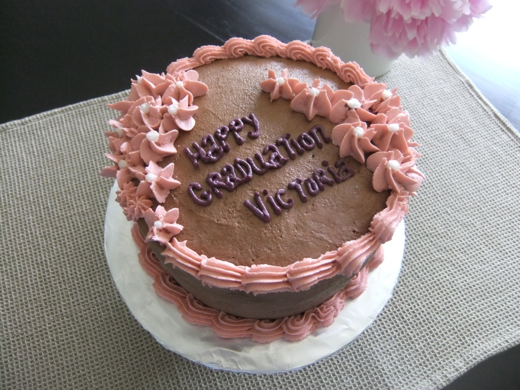 Wonderful Mocha Cake with a Chocolate Mocha Frosting and Pretty Cascading Flowers.