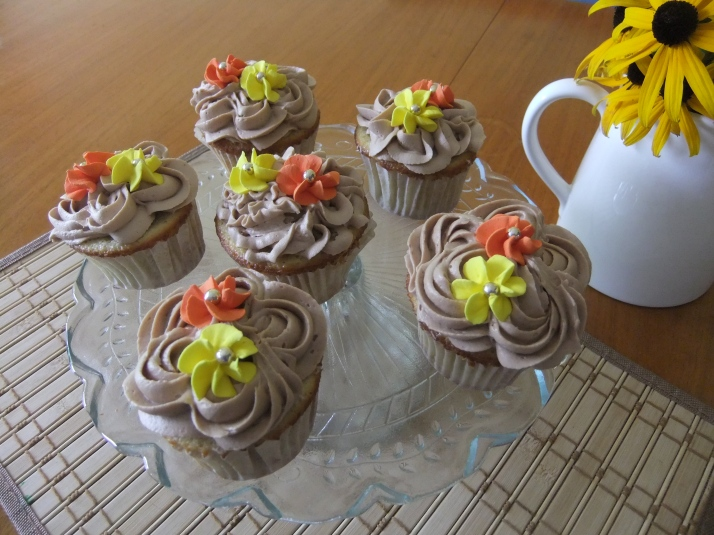 Gluten-Free Vanilla Cupcakes with a Milk Chocolate Mousse Frosting