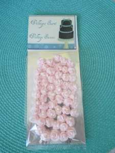 "Packaged Tea Roses in ""Blush"" 1/2""."