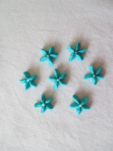Teal Star Flowers.