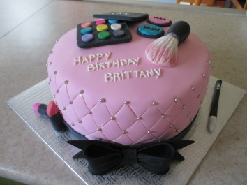 Pretty in Pink Make-Up Cake.