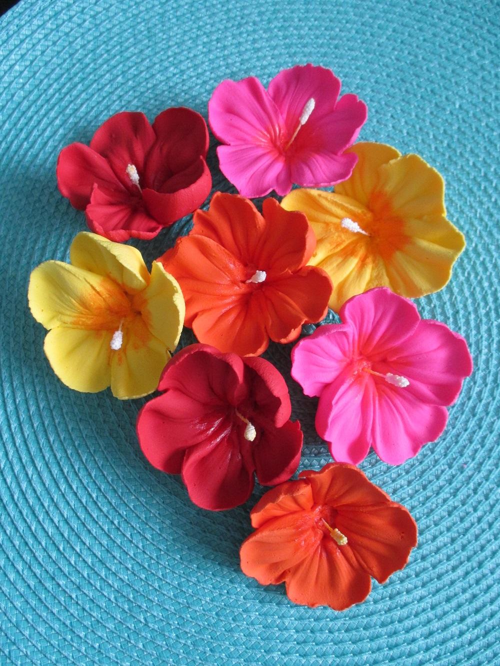 Brides colorful hibiscus flowers izmirmasajfo