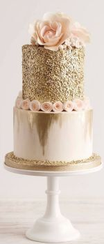 elegant crushed gold cake