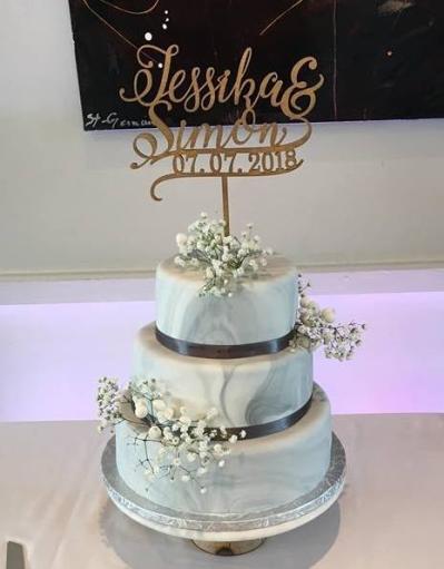 Marble Wedding Cake 3 Tiers