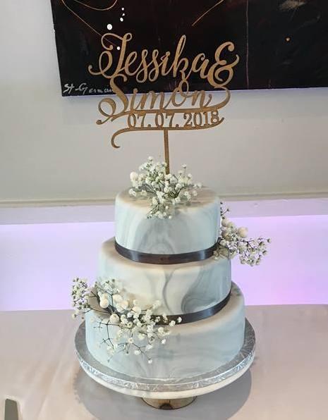 js cake wedding