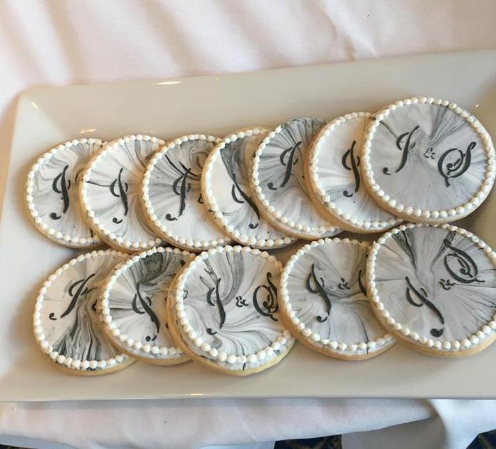 JS Wedding cookies